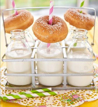 Doughnuts And Milk Breakfast Party
