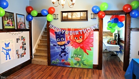 pj mask birthday party theme